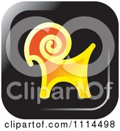Clipart Goat Icon Button Royalty Free Vector Illustration by Lal Perera
