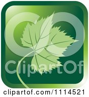 Clipart Green Grape Leaf Icon Button Royalty Free Vector Illustration