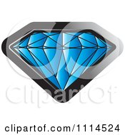 Clipart Sapphire Gemstone Royalty Free Vector Illustration
