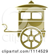Clipart Gold Carriage Royalty Free Vector Illustration