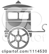 Clipart Silver Carriage Royalty Free Vector Illustration by Lal Perera