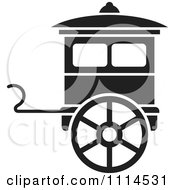 Clipart Black And White Carriage Royalty Free Vector Illustration by Lal Perera