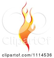 Clipart Orange Flames 1 Royalty Free Vector Illustration