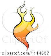 Clipart Orange Flames 2 Royalty Free Vector Illustration by Lal Perera
