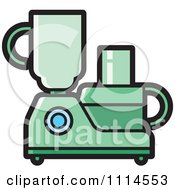 Clipart Green Kitchen Food Processor Or Blender Royalty Free Vector Illustration by Lal Perera