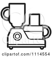 Clipart Black And White Kitchen Food Processor Or Blender Royalty Free Vector Illustration