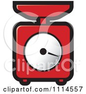 Clipart Red Kitchen Scale Royalty Free Vector Illustration