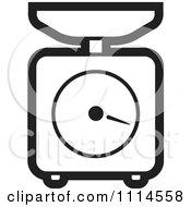 Clipart Black And White Kitchen Scale Royalty Free Vector Illustration
