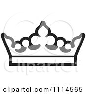 Clipart Black And White Crown Royalty Free Vector Illustration by Lal Perera