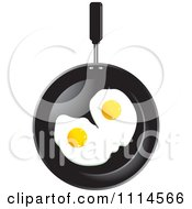 Clipart Two Eggs In A Frying Pan Royalty Free Vector Illustration by Lal Perera