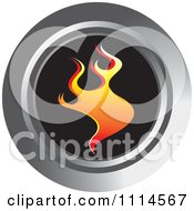 Clipart Orange Flame Icon Royalty Free Vector Illustration