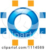 Clipart Blue Circle With Cages Royalty Free Vector Illustration