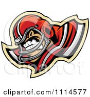 Clipart Competitive Football Player Mascot Royalty Free Vector Illustration by Chromaco