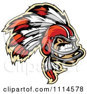 Clipart Chief Football Player Mascot Royalty Free Vector Illustration