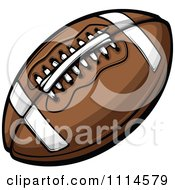 Clipart Brown American Football Royalty Free Vector Illustration by Chromaco