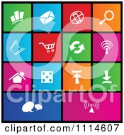 Clipart Set Of Colorful Square Web Site Page Metro Style Icons Royalty Free Vector Illustration