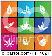 Poster, Art Print Of Set Of Colorful Square Leaf Metro Style Icons