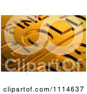 3d Gold Bar Seen With Shallow Depth Of Field