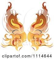 Pair Of Flaming Golden Wings