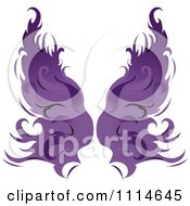 Clipart Pair Of Flaming Purple Wings Royalty Free Vector Illustration by Pams Clipart