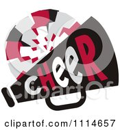 Clipart Cheerleader Pom Pom And Megaphone In Red Tones Royalty Free Vector Illustration by Johnny Sajem #COLLC1114657-0090