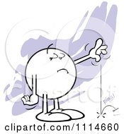Clipart Moodie Character Dropping A Pin In The Silence Royalty Free CGI Illustration