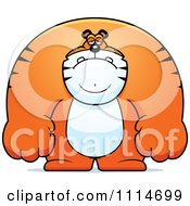Clipart Depressed Buff Tiger Royalty Free Vector Illustration