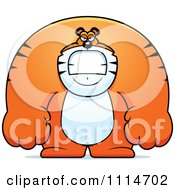 Clipart Angry Buff Tiger Royalty Free Vector Illustration