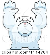 Clipart Buff Rabbit Giving Up Royalty Free Vector Illustration