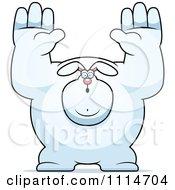 Clipart Buff Rabbit Giving Up Royalty Free Vector Illustration