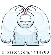 Clipart Angry Buff Rabbit Royalty Free Vector Illustration