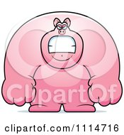 Clipart Angry Buff Pig Royalty Free Vector Illustration