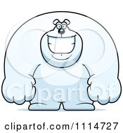 Clipart Happy Buff Polar Bear Smiling Royalty Free Vector Illustration by Cory Thoman