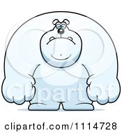 Clipart Depressed Buff Polar Bear Royalty Free Vector Illustration