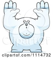 Clipart Buff Polar Bear Giving Up Royalty Free Vector Illustration