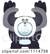 Clipart Buff Panda Giving Up Royalty Free Vector Illustration