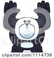 Clipart Buff Panda Giving Up Royalty Free Vector Illustration by Cory Thoman