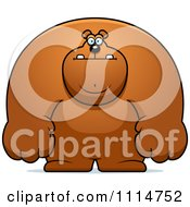 Clipart Buff Bear Royalty Free Vector Illustration