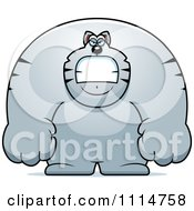 Clipart Angry Buff Gray Cat Royalty Free Vector Illustration