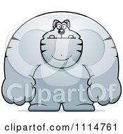 Clipart Buff Gray Cat Royalty Free Vector Illustration