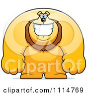 Clipart Happy Buff Lion Smiling Royalty Free Vector Illustration by Cory Thoman