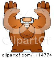 Clipart Buff Bull Giving Up Royalty Free Vector Illustration