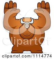 Clipart Buff Bull Giving Up Royalty Free Vector Illustration