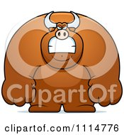 Clipart Angry Buff Bull Royalty Free Vector Illustration