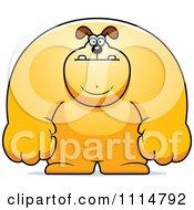 Clipart Buff Dog Royalty Free Vector Illustration