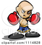 Clipart Tough Boxer Boy In Red Gloves Royalty Free Vector Illustration by Chromaco