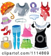Clipart Accessories And Clothes 2 Royalty Free Vector Illustration by visekart