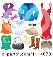 Clipart Accessories And Clothes 1 Royalty Free Vector Illustration by visekart