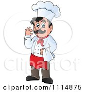 Clipart Happy Male Chef Gesturing Ok Royalty Free Vector Illustration
