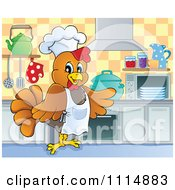 Chef Chicken Cooking In A Kitchen